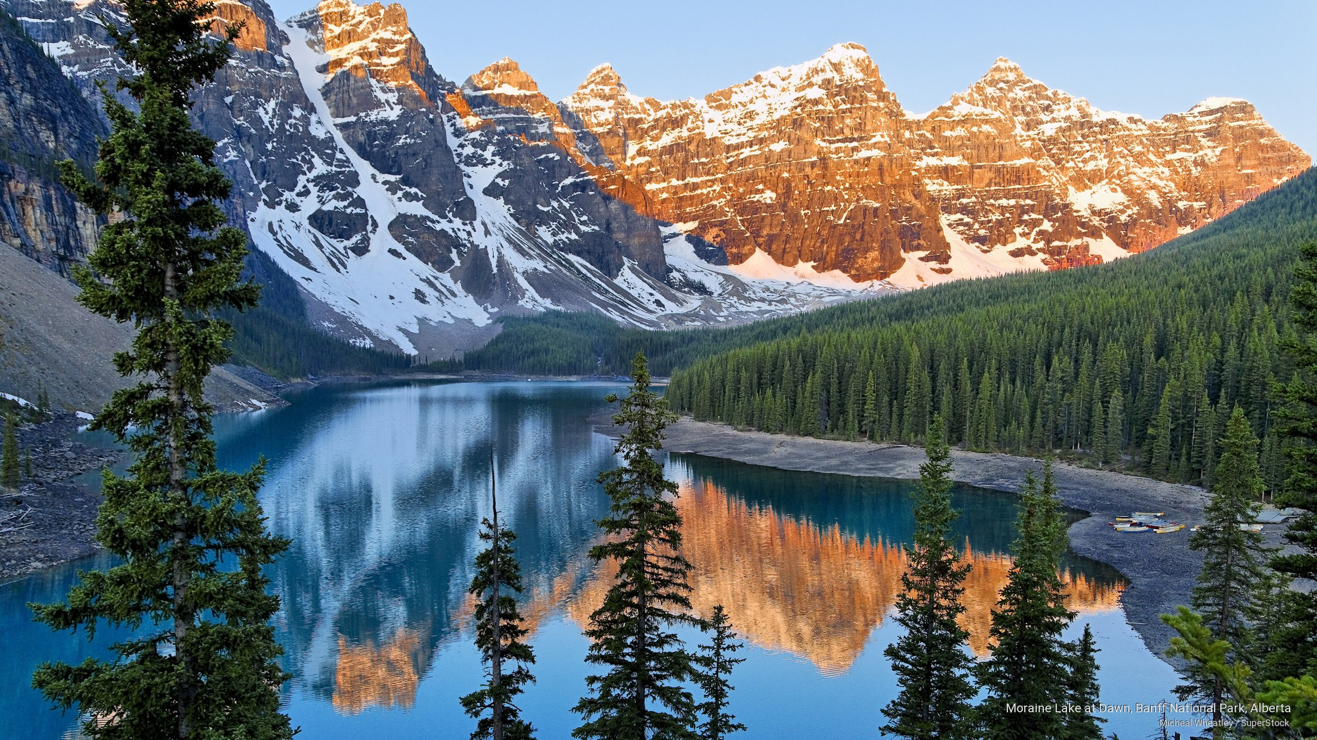 Moraine Lake at Dawn, Banff National Park, Alberta