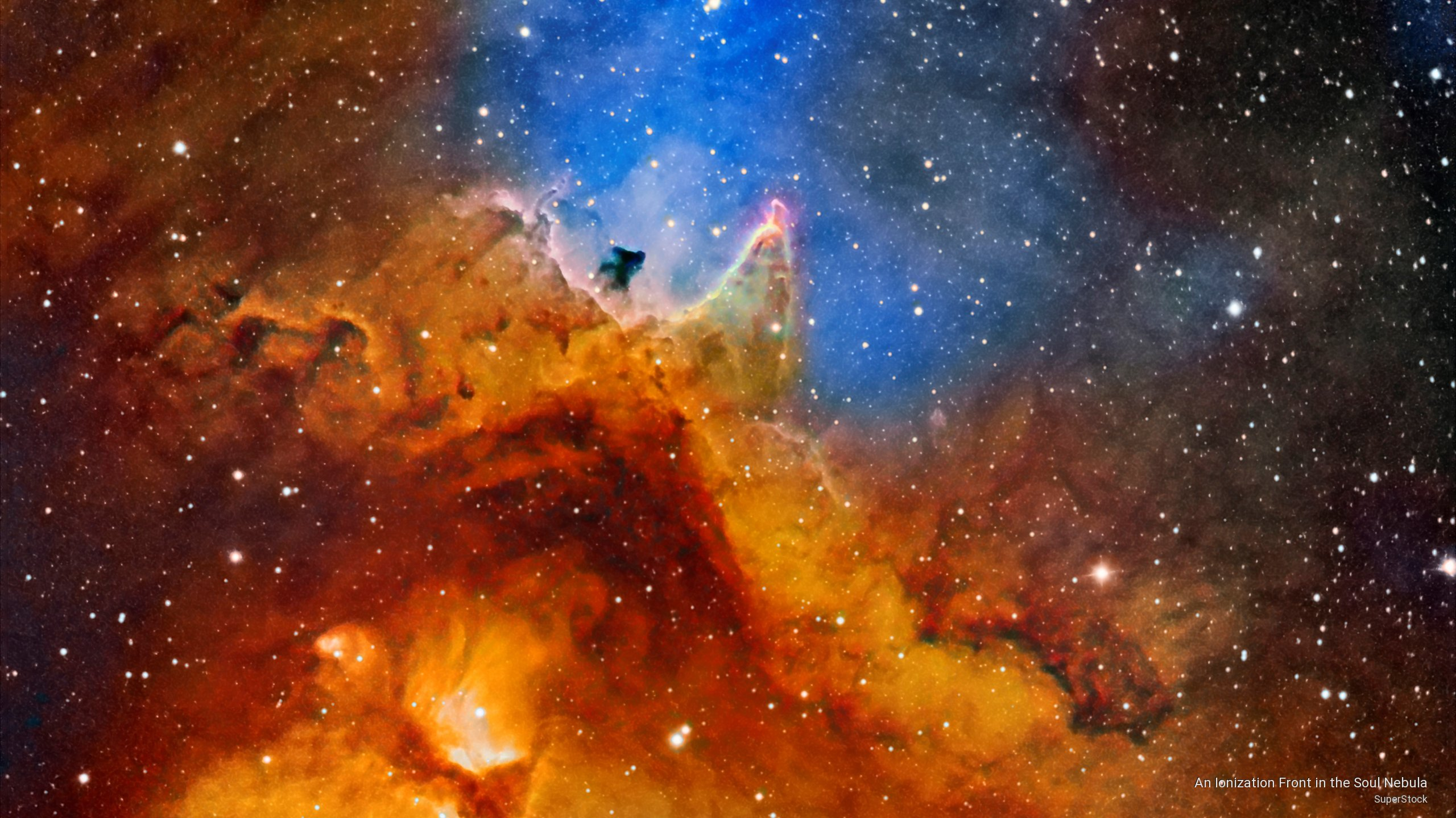 An Ionization Front in the Soul Nebula