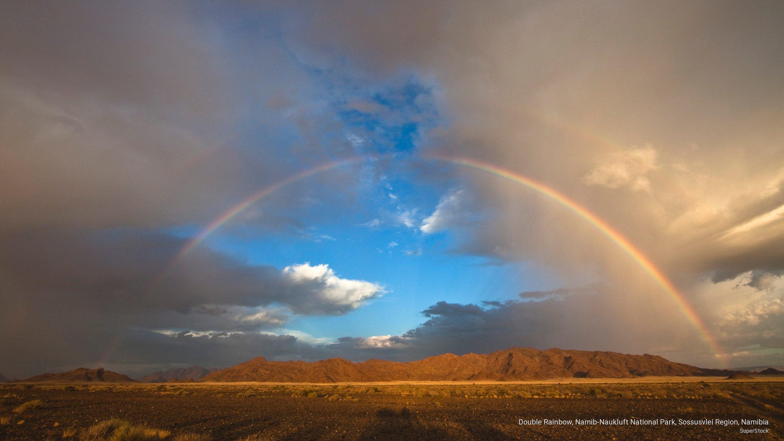 Double Rainbow, Namib-Naukluft National Park, Sossusvlei Region, Namibia