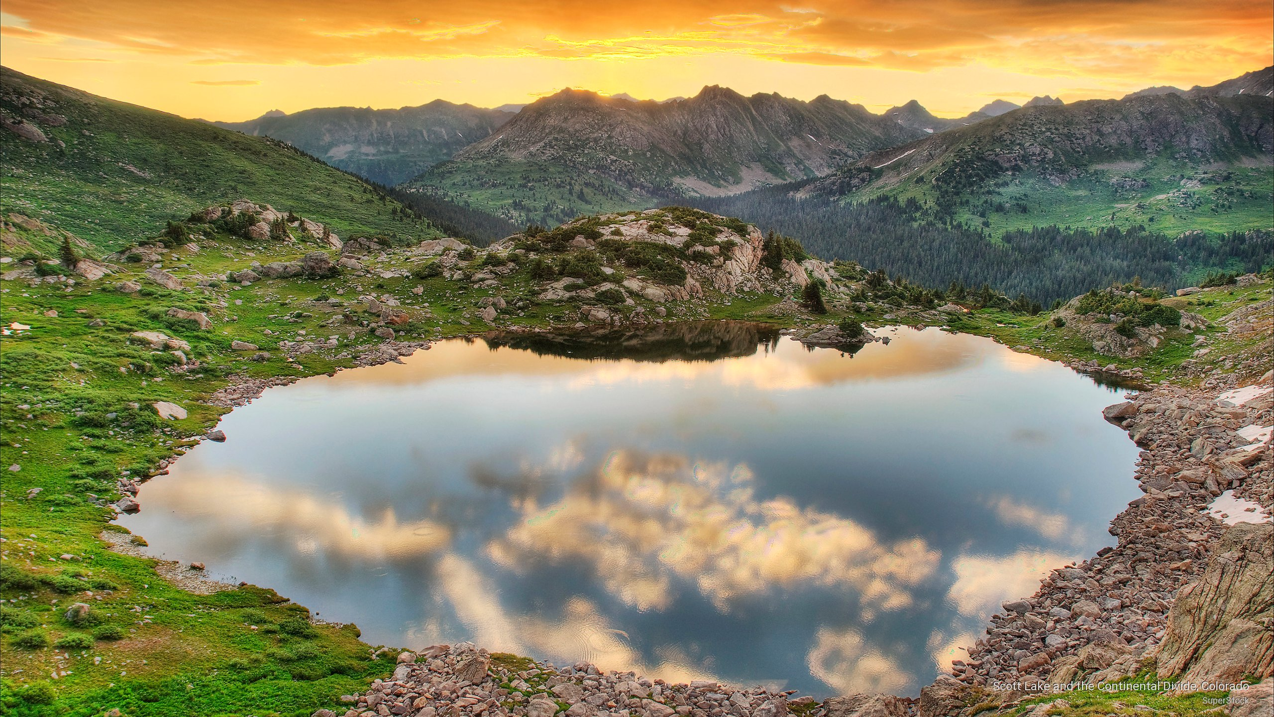 Scott Lake and the Continental Divide, Colorado