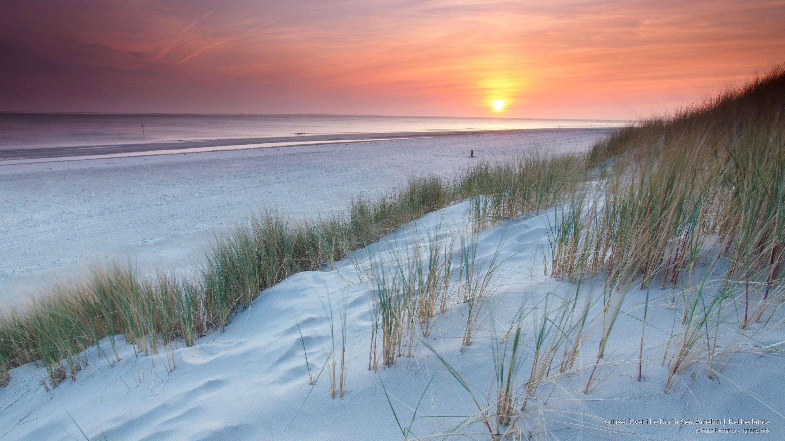 Sunset Over the North Sea, Ameland, Netherlands
