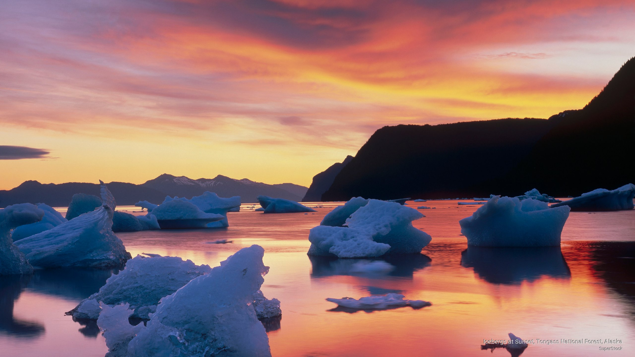 Icebergs at Sunset, Tongass National Forest, Alaska
