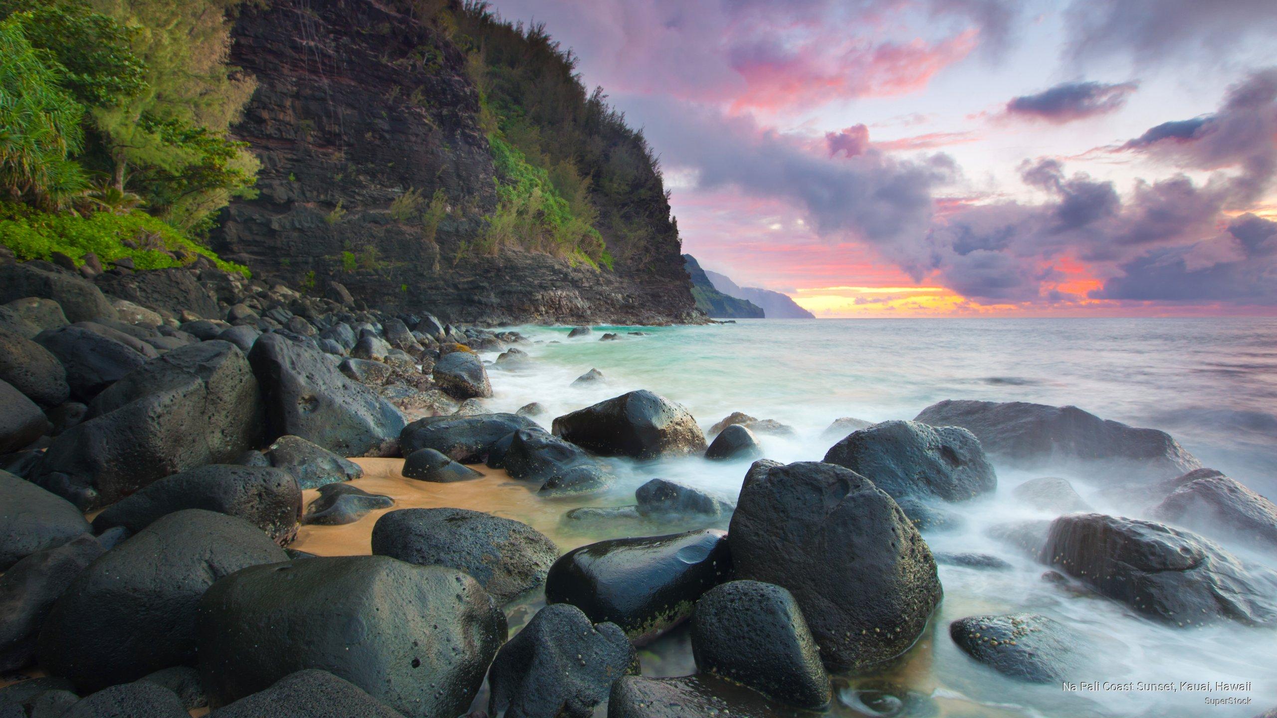 Na Pali Coast Sunset, Kauai, Hawaii